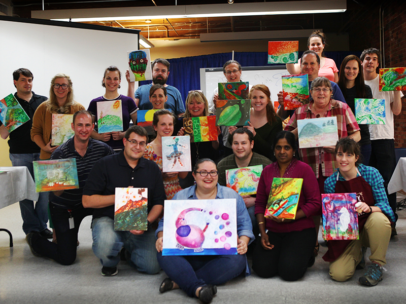 DEKA Paint Night Group Shot